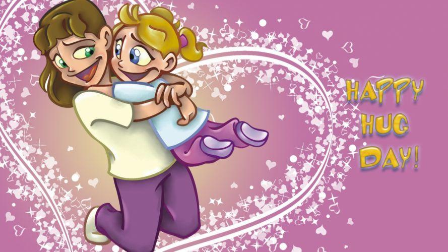 hug hugging couple love mood people men women happy baby family mother girl poster wallpaper