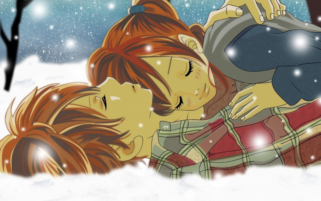 hug hugging couple love mood people men women happy original anime fantasy wallpaper