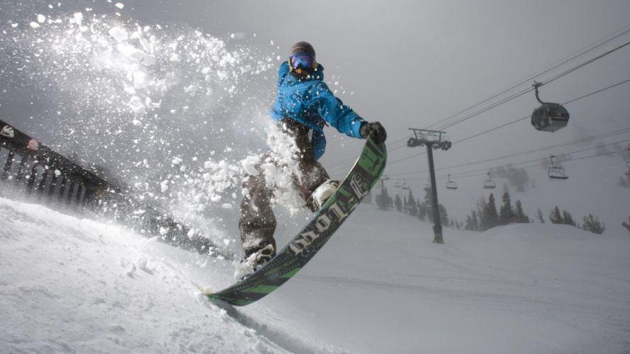 snowboard nieve wallpaper