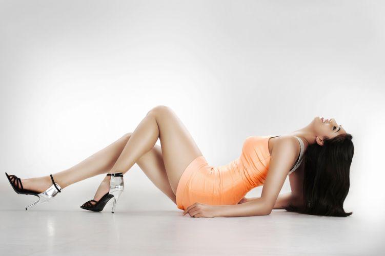 nisha shetty bollywood actress model girl beautiful brunette pretty cute beauty sexy hot pose face eyes hair lips smile figure indian wallpaper