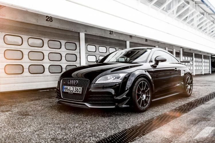 Audi TT-RS Hperformance cars coupe black modified wallpaper