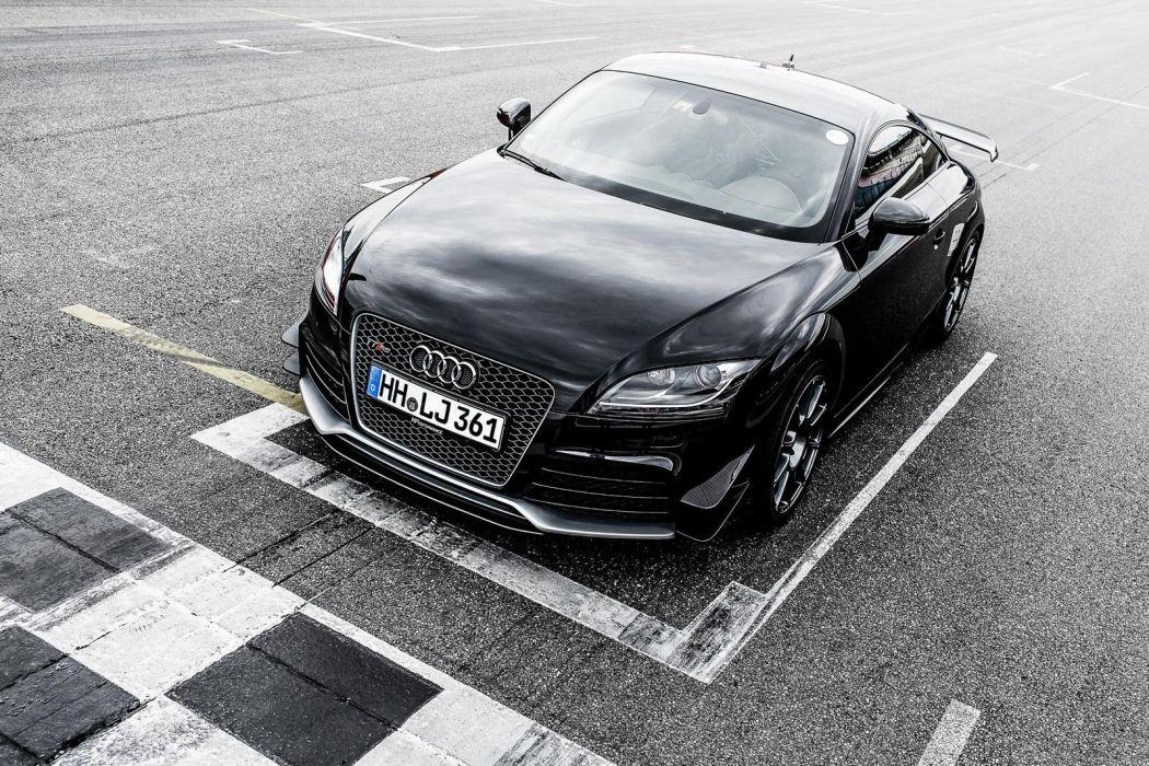 Audi TT-RS Hperformance cars coupe black modified wallpaper