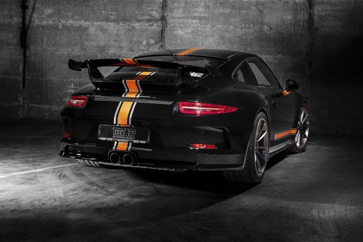 TechArt Porsche 911 GT3 991 coupe cars black modified 2014 wallpaper