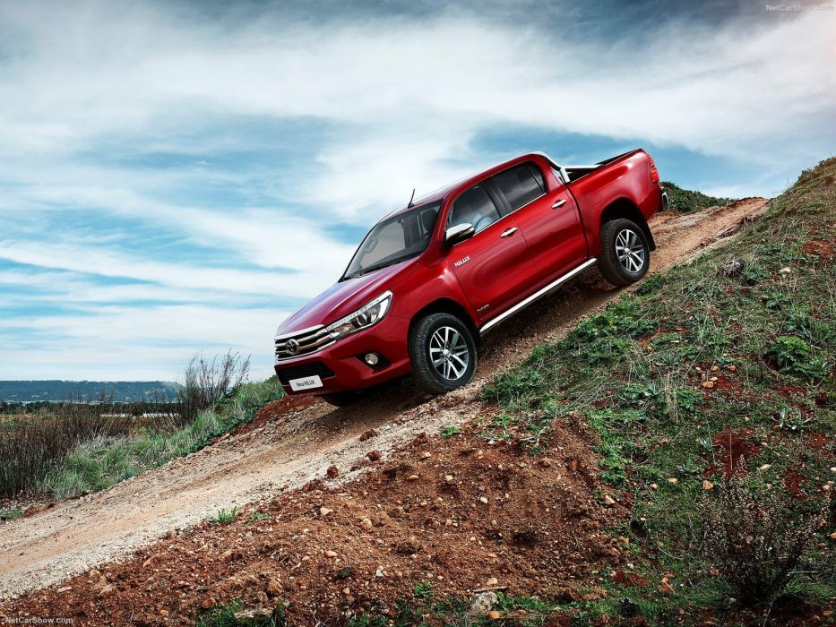 2016 4x4 red cars hilux pickup toyota wallpaper