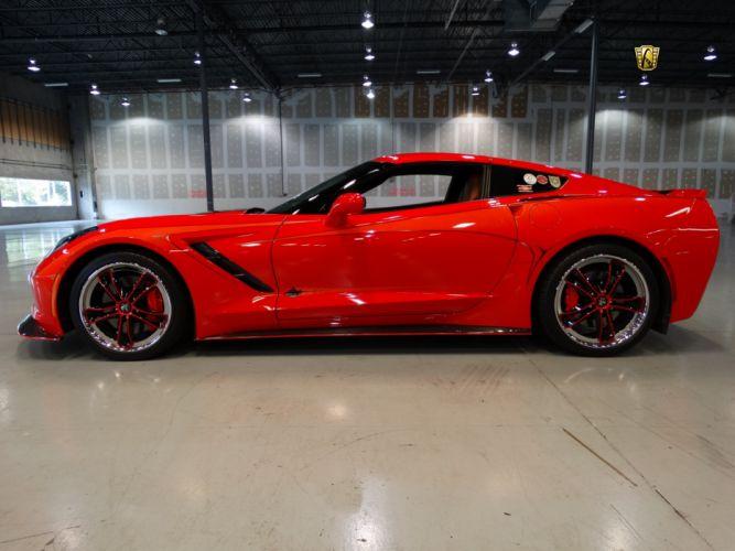 2014 Chevrolet Corvette 3-LT Z51 Stingray cars coupe red wallpaper