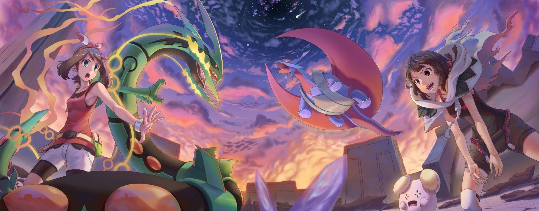 haruka pokemon mega rayquaza mega salamence pokemon tagme whismur wallpaper