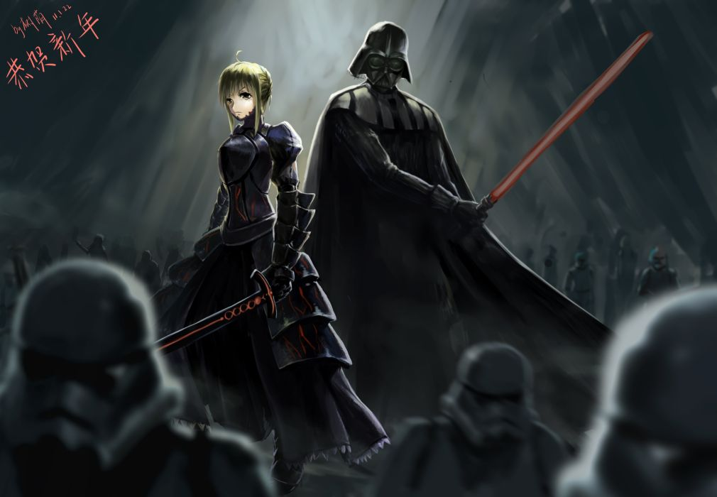 Crossover Dark Darth Vader Fate Stay Night Gray Polychromatic Saber Signed Star Wars Wallpaper 5519x3826 807586 Wallpaperup The main folder which includes all stores that take place or inspiration from the fifth holy grail war. crossover dark darth vader fate stay