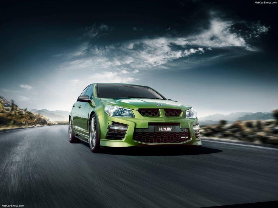 HSV Gen-F2 gts cars sedan green 2016 wallpaper