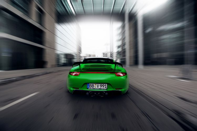 TechArt Porsche 911 Carrera-4S Coupe UK-spec (991) cars green 2013 wallpaper