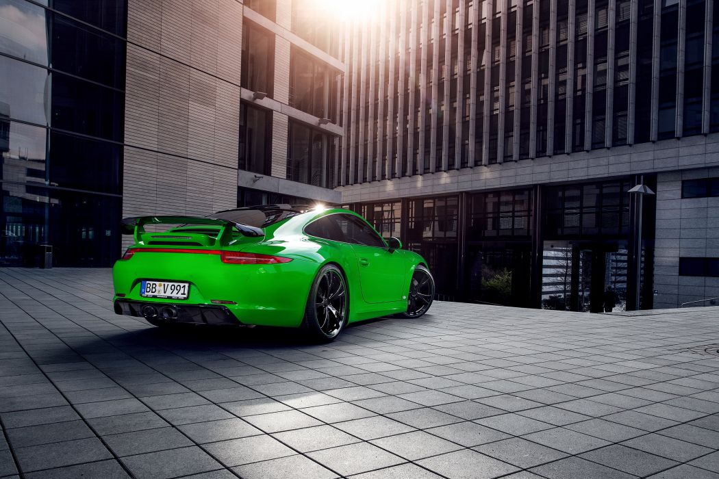 TechArt Porsche 911 Carrera-4S Coupe UK-spec (991) cars green 2013 wallpaper