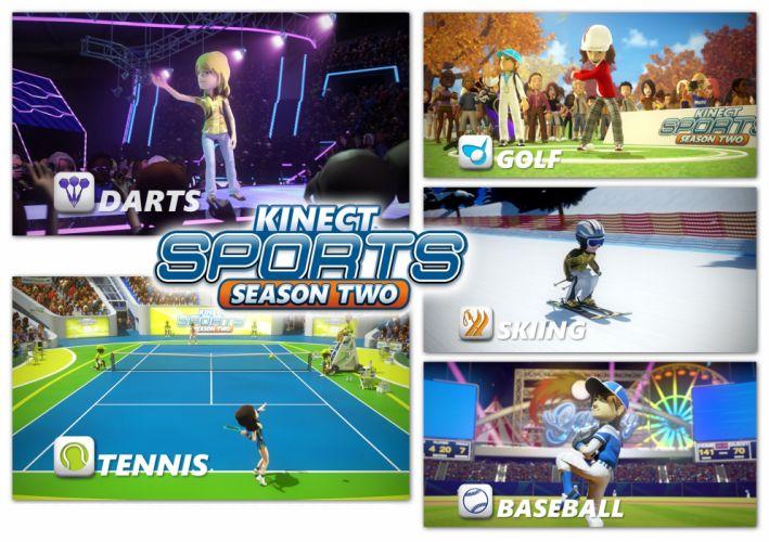 KINECT SPORTS soccer baseball football tennis track 1kinect xbox microsoft sport game poster wallpaper