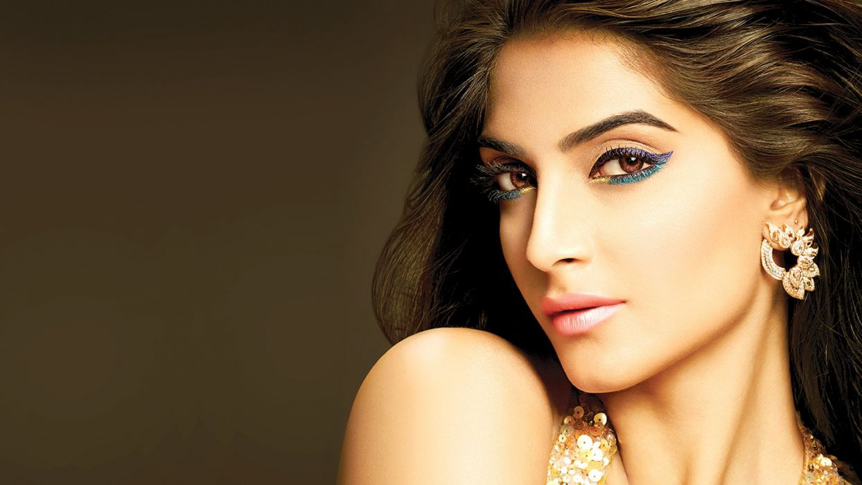 sonam kapoor bollywood actress model girl beautiful brunette pretty cute beauty sexy hot pose face eyes hair lips smile figure indian  wallpaper