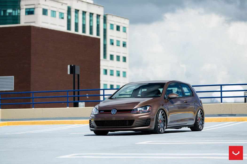 V W Mk7 Golf GTI Vossen WHEELS cars coupe wallpaper