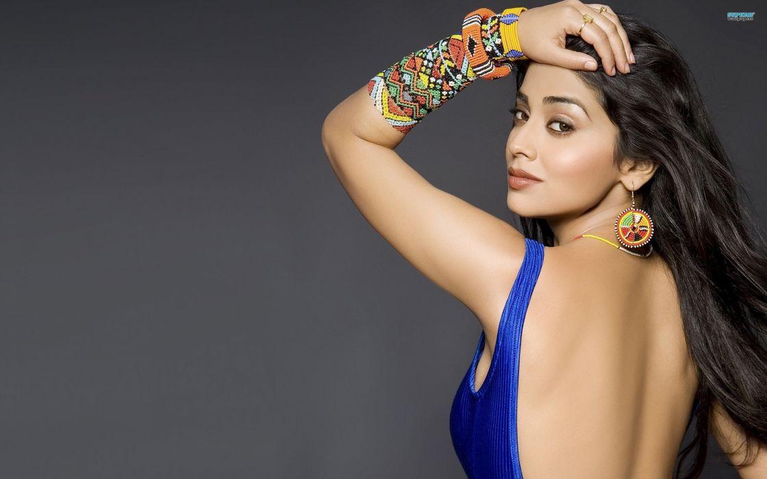 Shreya Saran bollywood actress model girl beautiful brunette pretty cute beauty sexy hot pose face eyes hair lips smile figure indian  wallpaper
