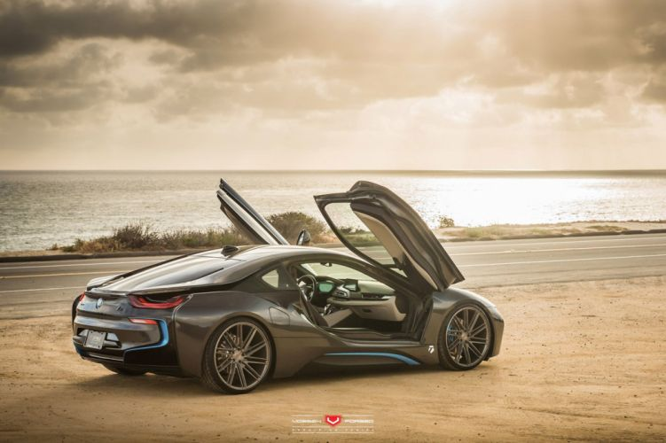 BMW-i8 Vossen Wheels cars electric wallpaper