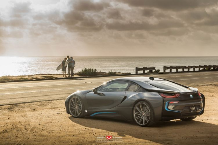 BMW-i8 Vossen Wheels cars electric wallpaper