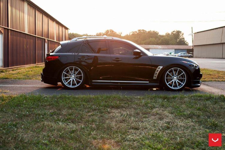 Infiniti FX35 Vossen Wheels cars suv black wallpaper
