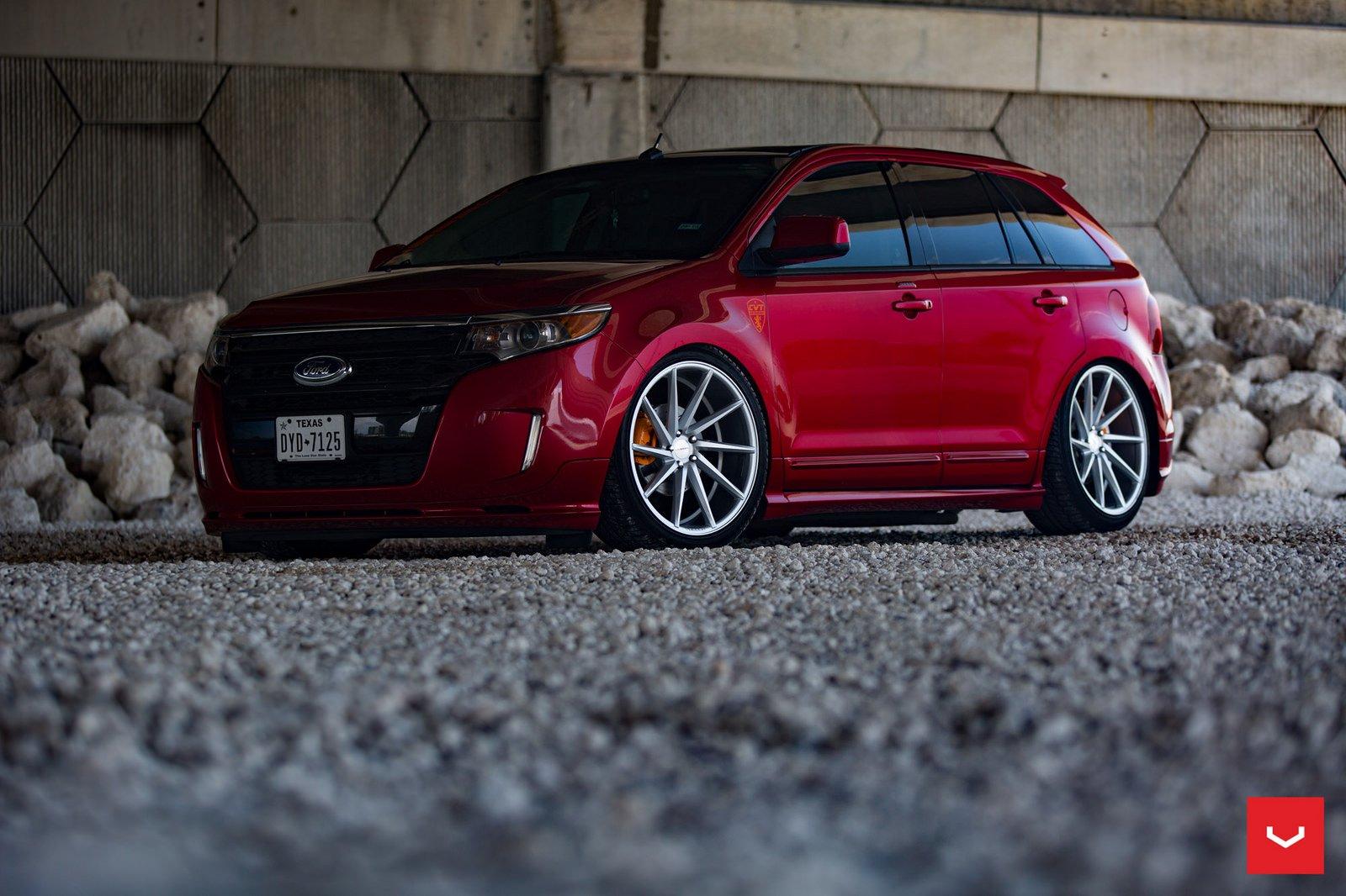 Ford Edge Wheels Cars Suv Red Wallpaper 1600x1066