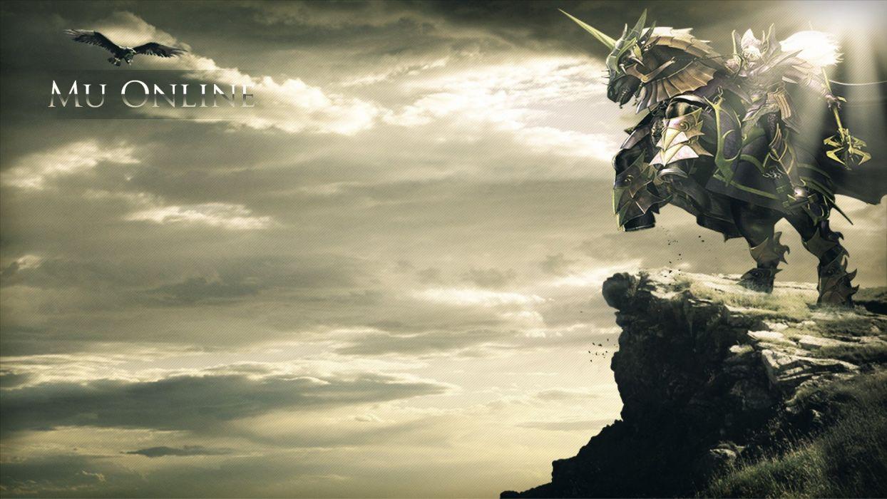 MU ONLINE fantasy mmo rpg action fighting mu-online 1muo perfect medieval warrior samurai poster wallpaper