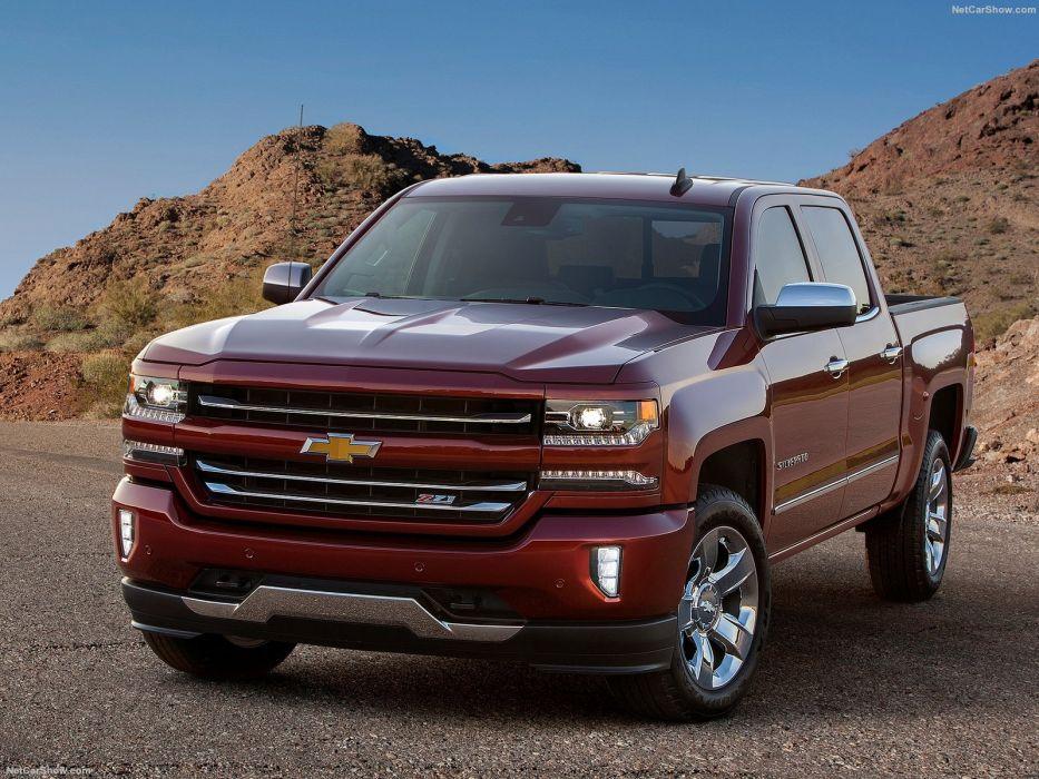 Chevrolet Silverado pickup cars truck 2016 wallpaper