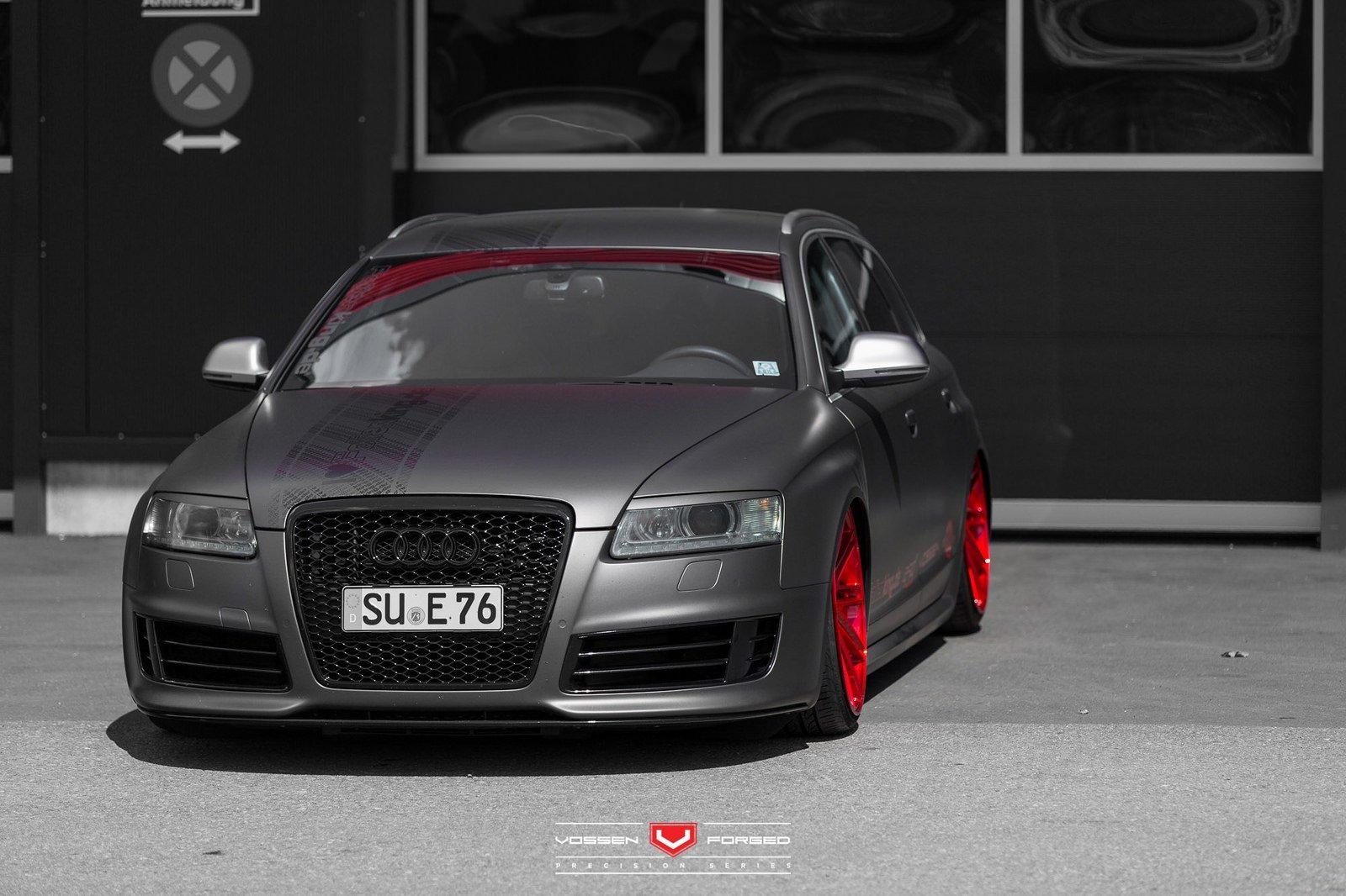 Audi Rs6 Avant Vossen Cars Wagon Black Matt Wrapp Modified