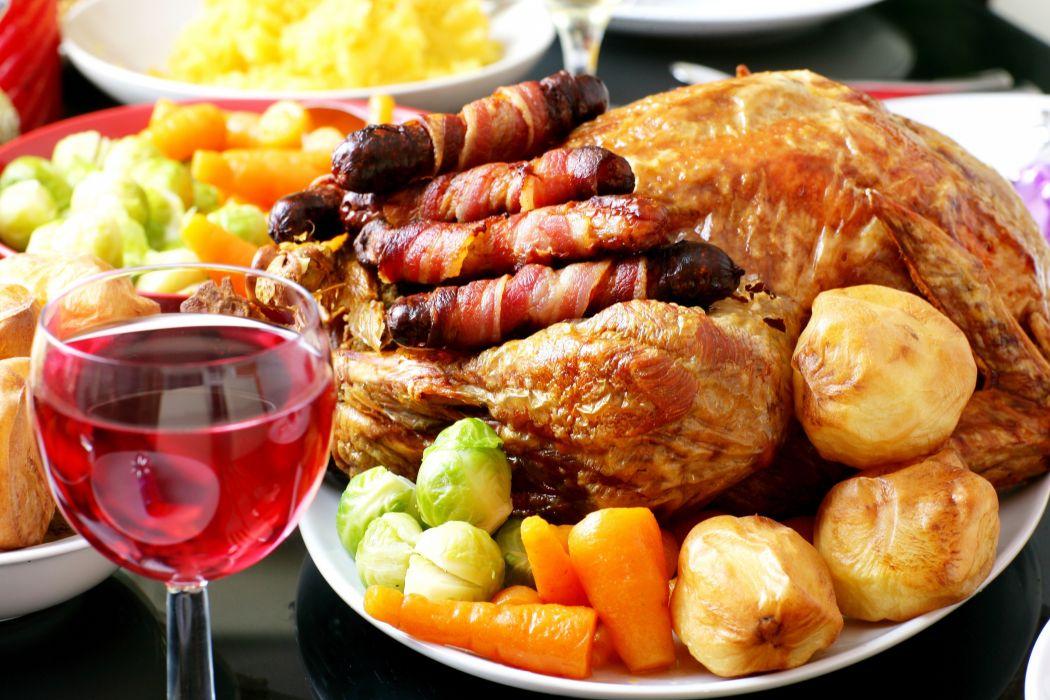 pollo guarnicion vino comida wallpaper