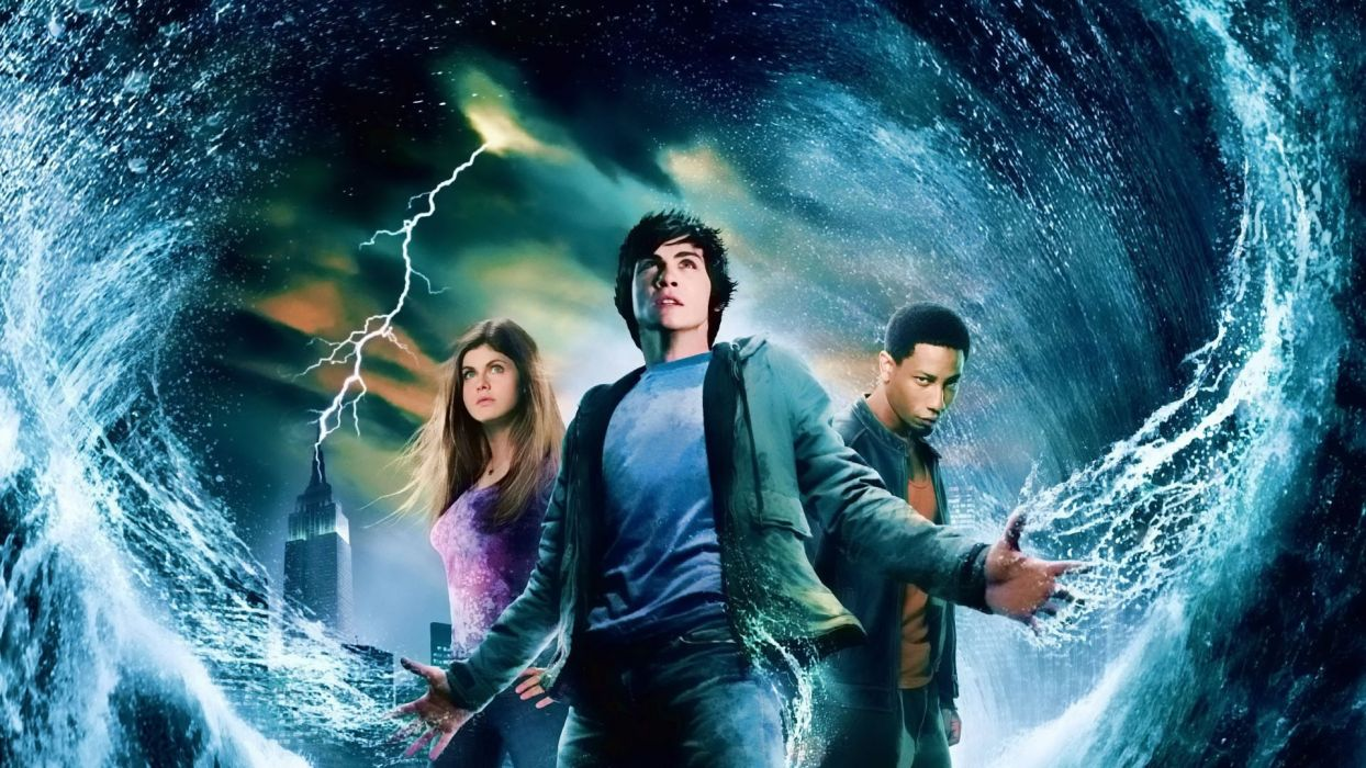 Percy Jackson Olympians Lightning Thief fantasy adventure family gods 1pjolt wallpaper
