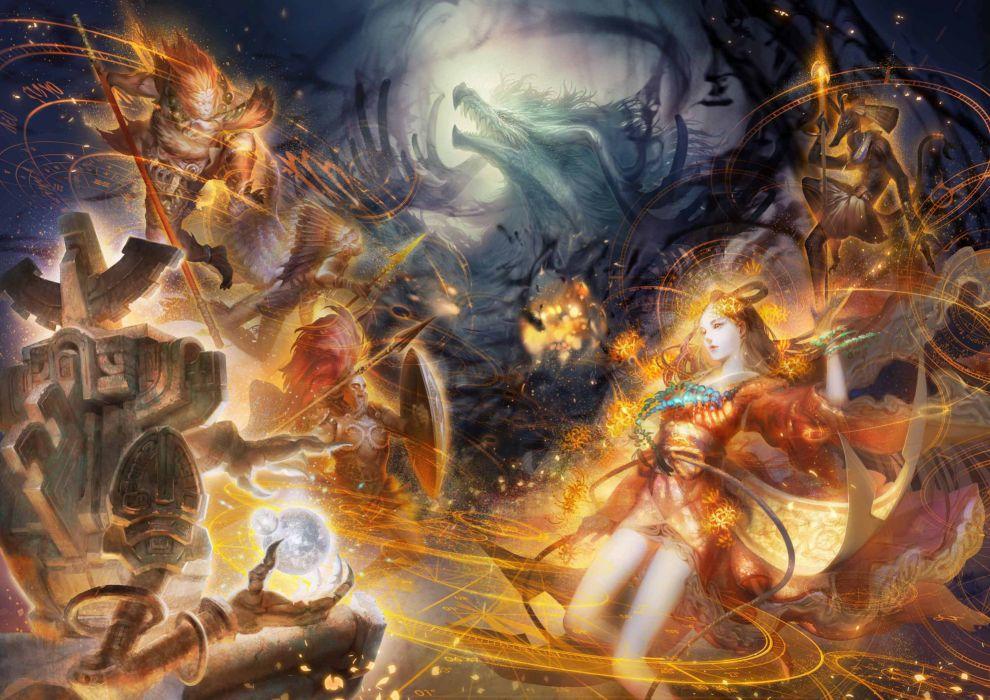 DESTINY Of SPIRITS fantasy rpg mmo online anime strategy exploration 1dos wallpaper