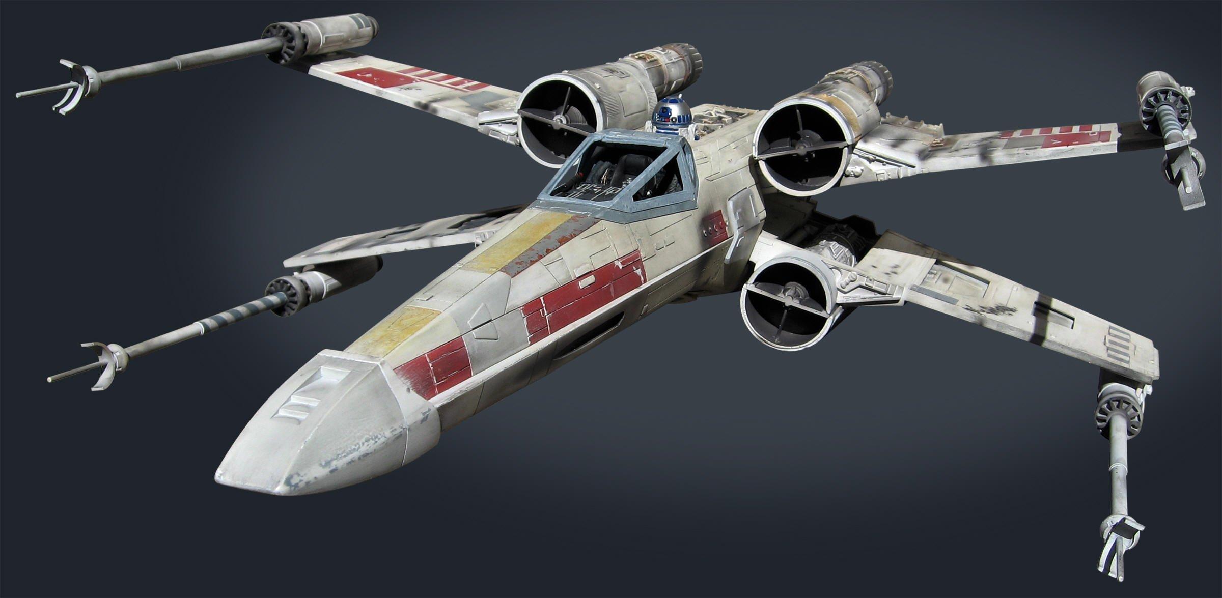 STAR WARS X  WING Spaceship Futuristic Space Sci Fi Xwing Wallpaper 2400x1175 811208