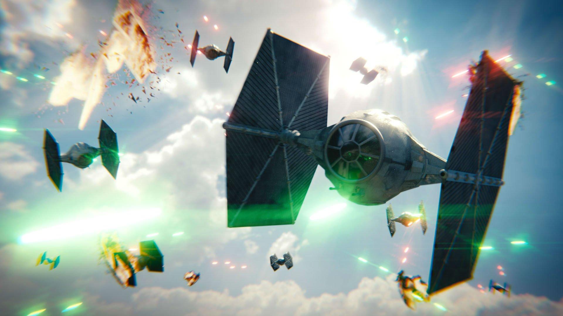 Tie Fighter Star Wars Futuristic Spaceship Space Sci Fi Wallpaper 1920x1080 811231 Wallpaperup