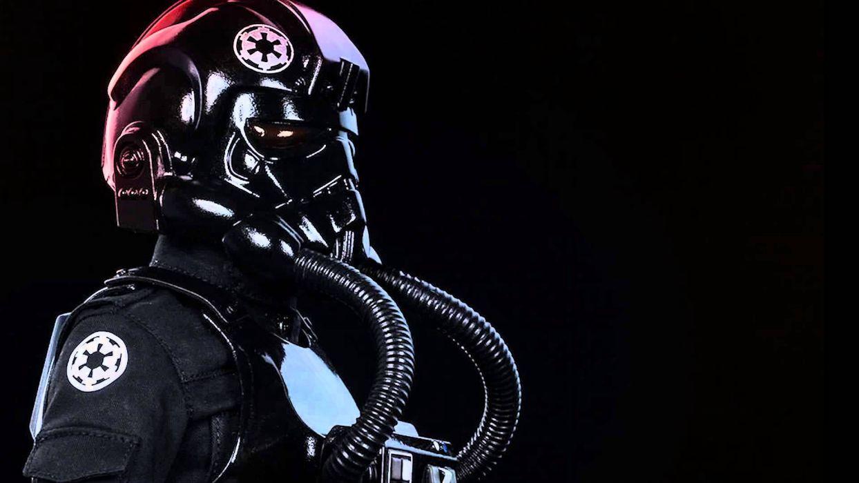 Tie Fighter Star Wars Futuristic Spaceship Space Sci Fi Wallpaper