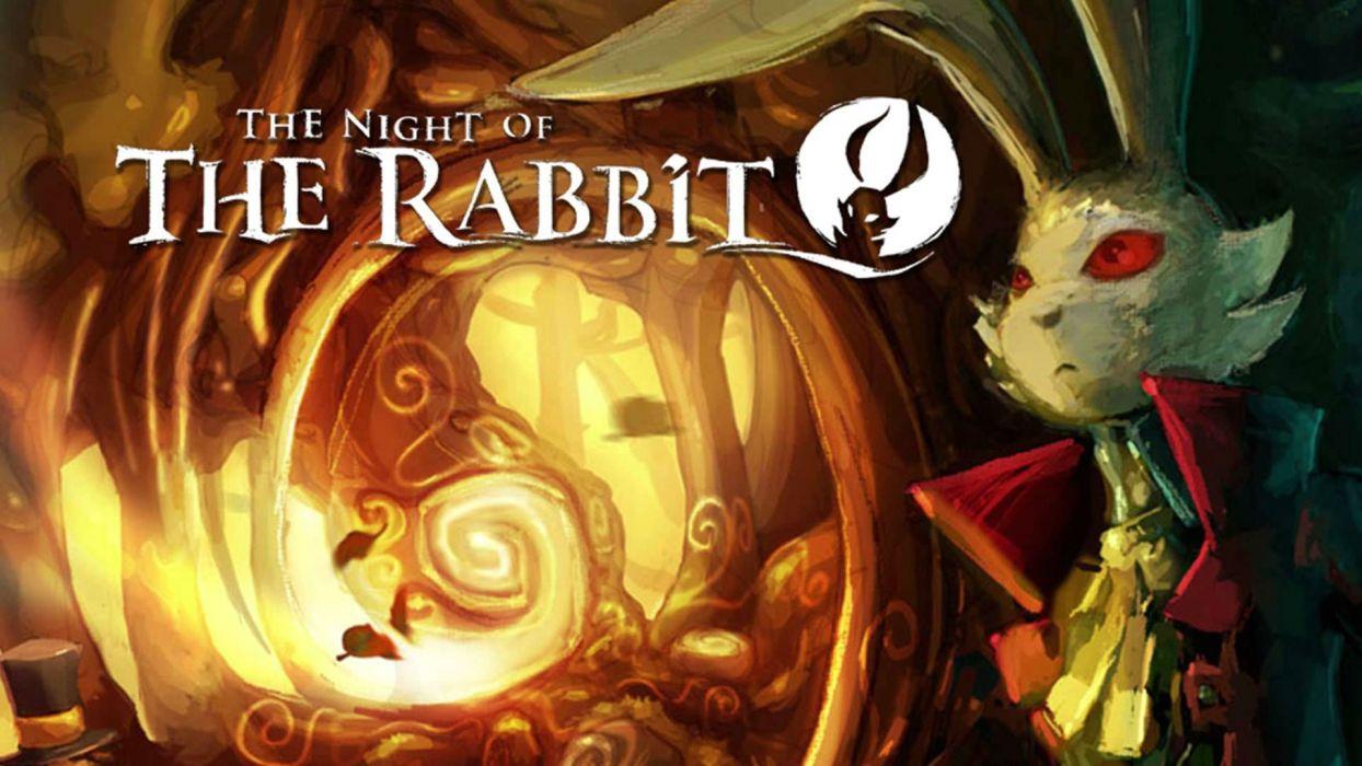 NIGHT RABBIT fantasy adventure whispered world carton family 1notr puzzle exploration wallpaper