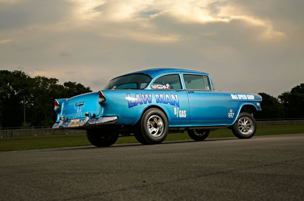 1955 Chevrolet Chevy 210 Coupe Gasser Drag OLd Style Race USA -02 ...