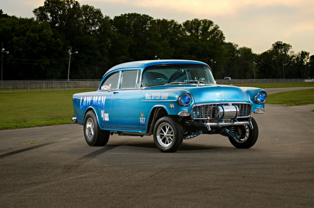 1955 Chevrolet Chevy 210 Coupe Gasser Drag OLd Style Race USA -08 ...