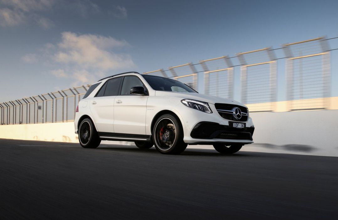 Mercedes AMG GLE 63-S 4MATIC AU-spec (W166) cars suv white 2015 wallpaper