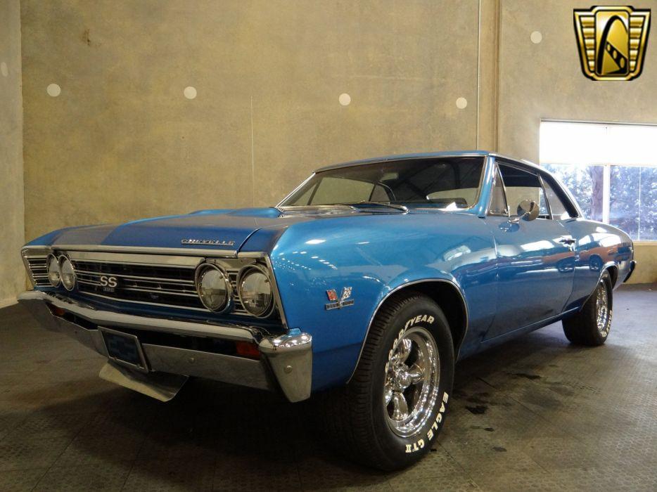 1967 Chevrolet Chevelle cars chevy blue wallpaper