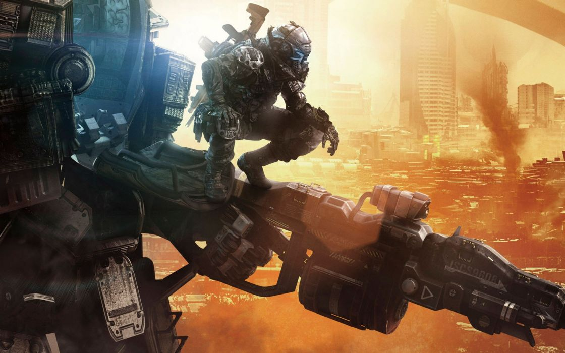 TITANFALL sci-fi mecha robot futuristic poster wallpaper