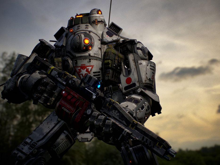 TITANFALL sci-fi mecha robot futuristic wallpaper