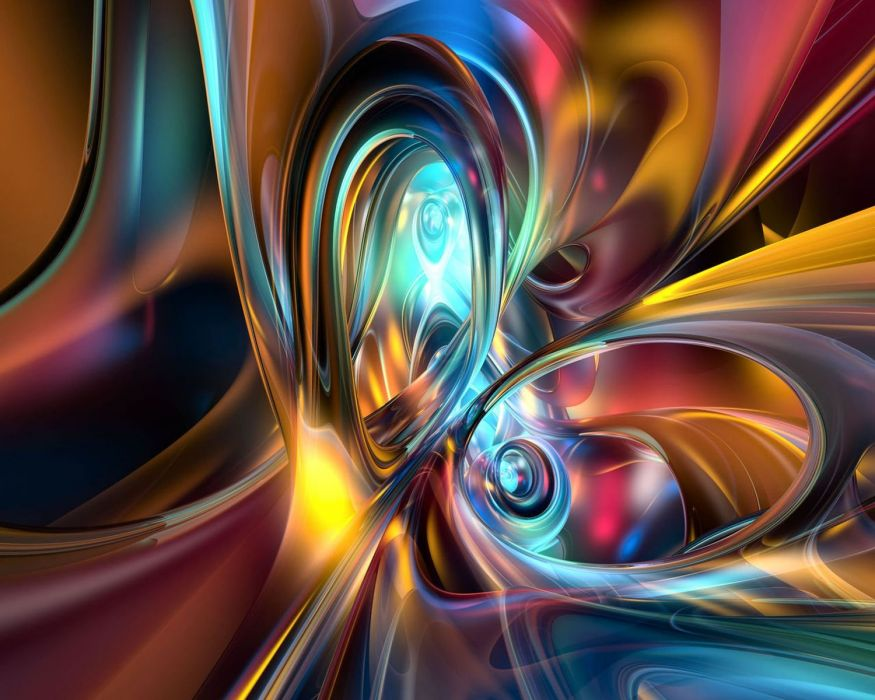abstracto 3d tubos colores wallpaper