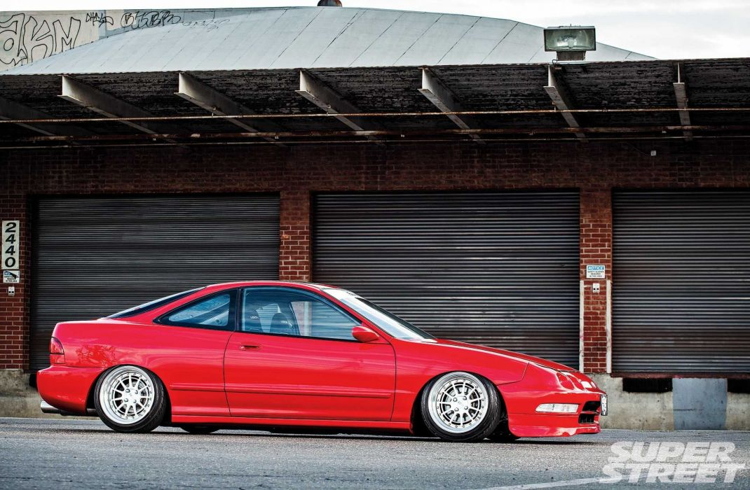 Acura Integra cars coupe red modified wallpaper