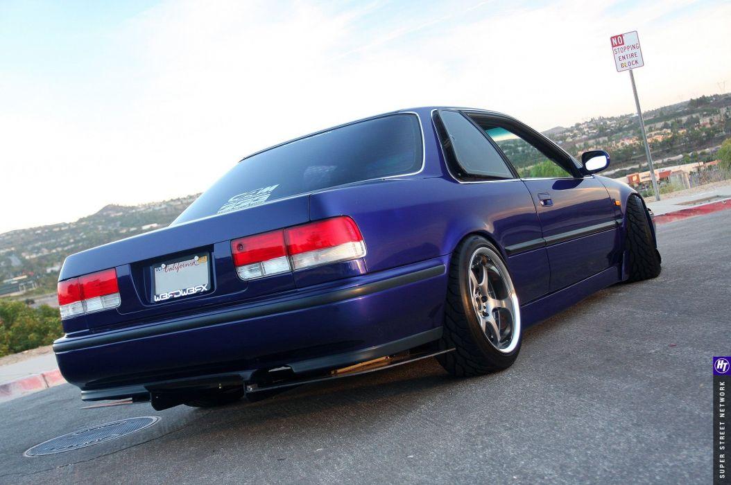 Honda Accord E X Coupe blue modified wallpaper