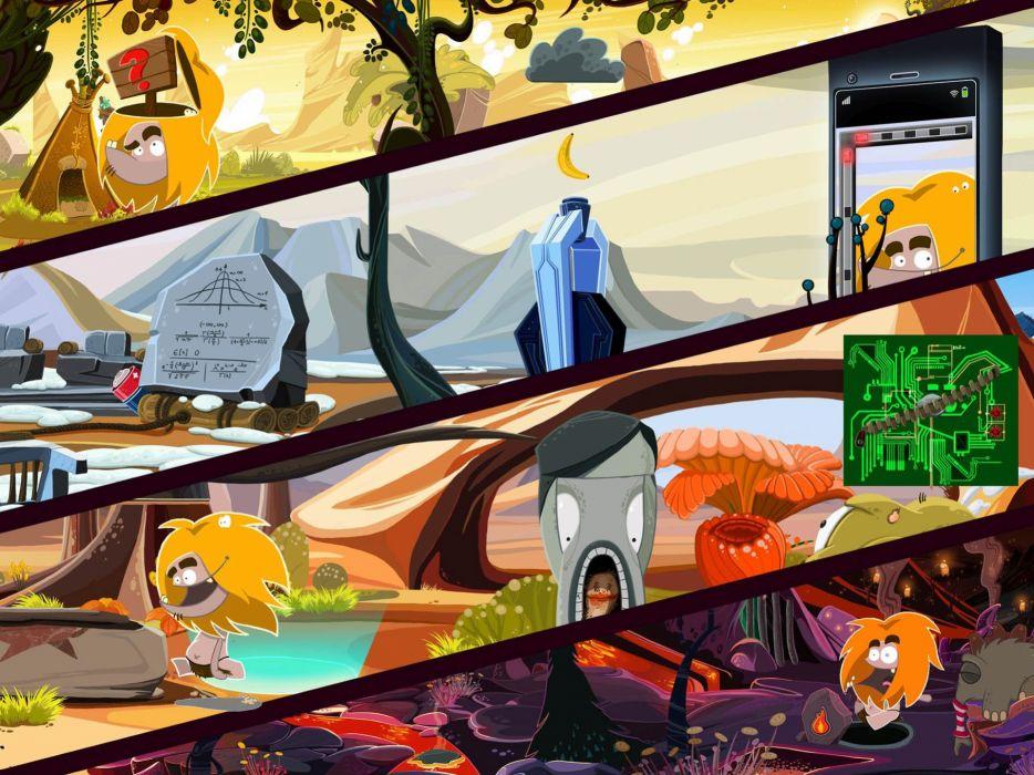 FIRE exploration adventure fantasy puzzle prehistoric cartoon comedy poster wallpaper