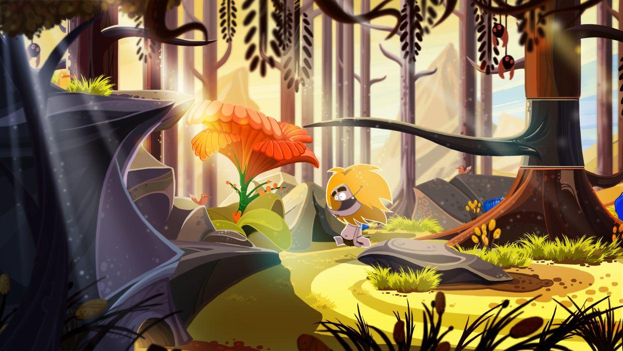 FIRE exploration adventure fantasy puzzle prehistoric cartoon comedy wallpaper