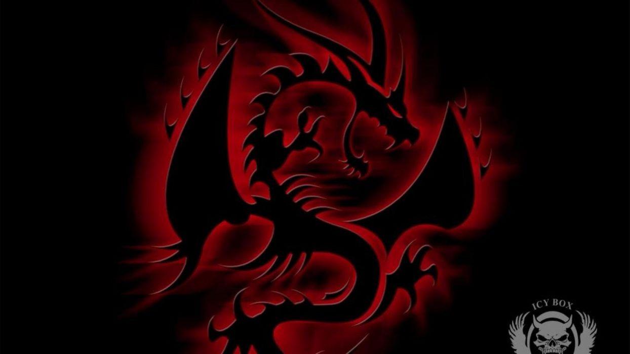 abstracto dark dragon rojo wallpaper