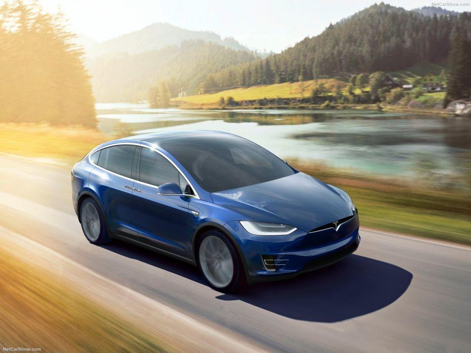 Tesla Model X cars sedan electric 2017 wallpaper