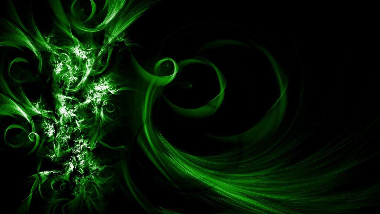 abstracto verde dark wallpaper