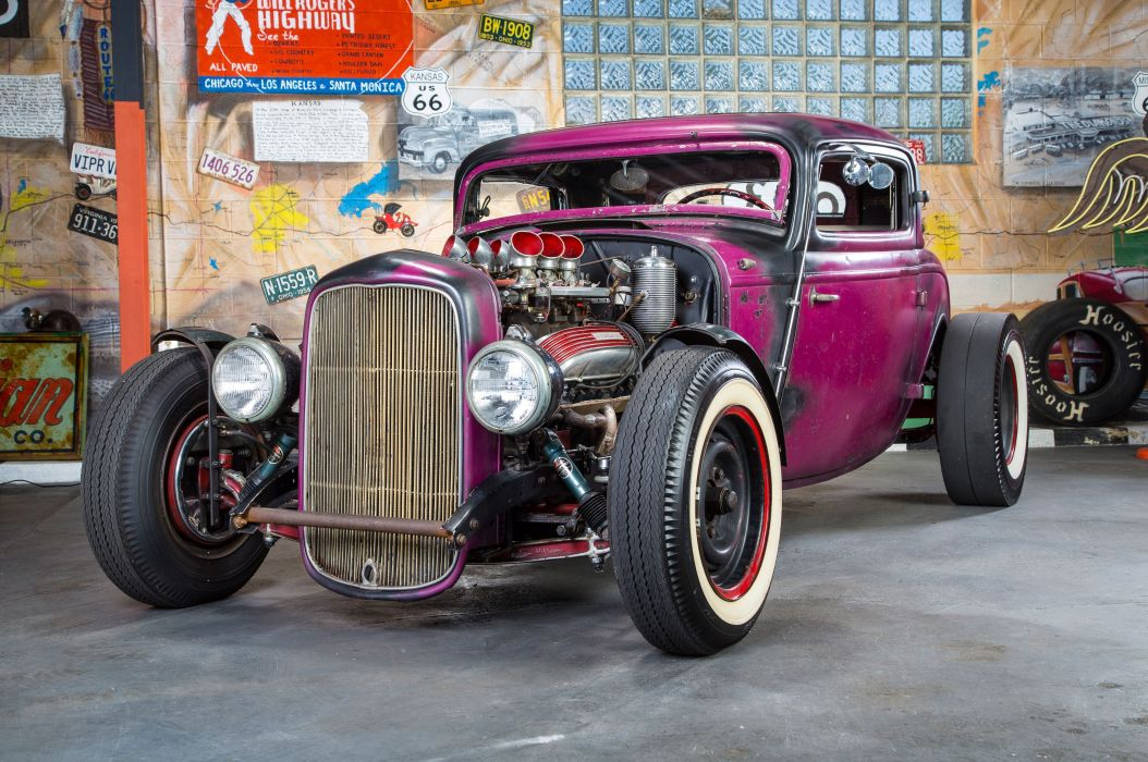 1932 Ford Three Window Coupe custom hot rod usa wallpaper