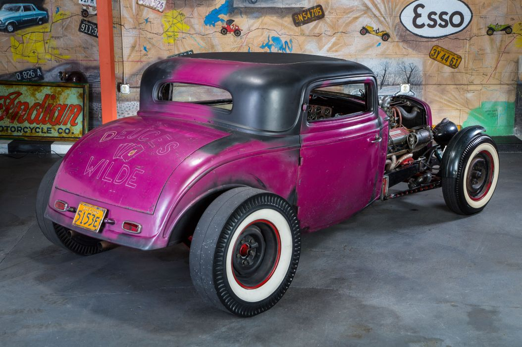 1932 Ford Three Window Coupe custom hot rod usa wallpaper