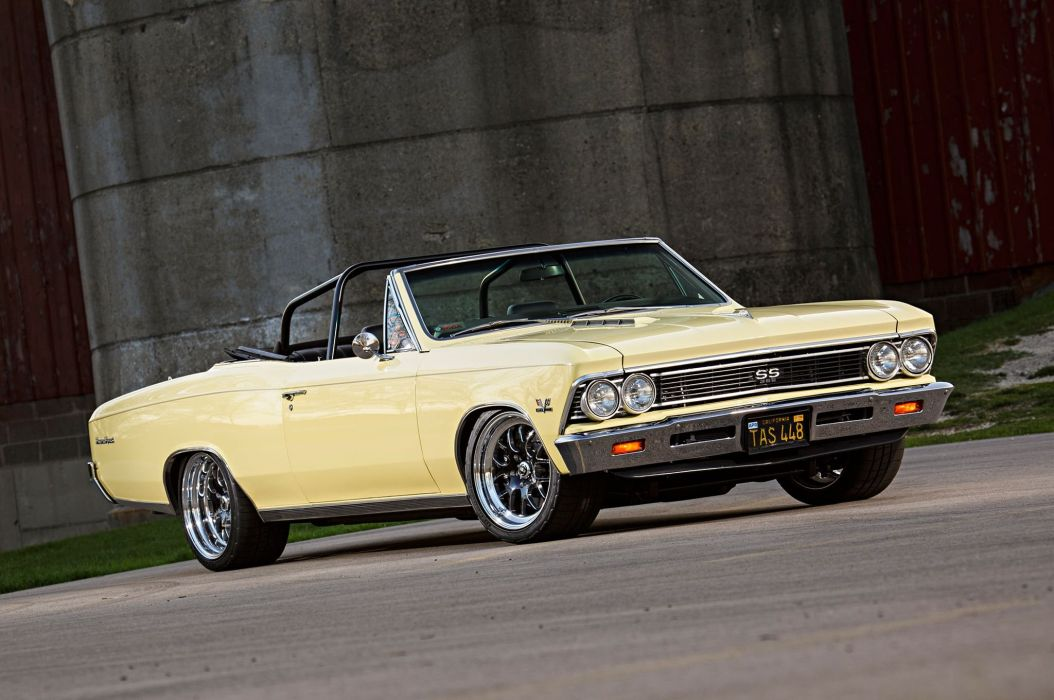 1966 Chevrolet Chevy Chevelle Convertible Super Street Pro Touring Low USA -02 wallpaper