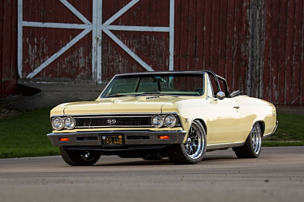 1966 Chevrolet Chevy Chevelle Convertible Super Street Pro Touring Low USA -01 wallpaper